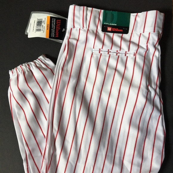Wilson White Red Pin Striped Baseball Pants XXL 6b0e078bc3a3